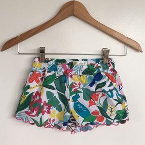MINI BODEN Girls Tropical Botanical Shorts Sz 6